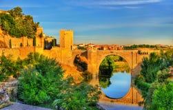 The Alcantara Bridge in Toledo, Spain Stock Photos