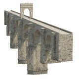 Alcantara Bridge on white. 3D illustration, clipping path Stock Photo