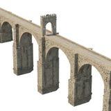 Alcantara Bridge on white. 3D illustration, clipping path Royalty Free Stock Images