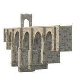 Alcantara Bridge on white. 3D illustration, clipping path Stock Images
