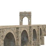 Alcantara Bridge on white. 3D illustration, clipping path Royalty Free Stock Image