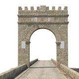Alcantara bro på vit 3D illustration, snabb bana Royaltyfria Bilder