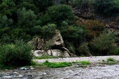Alcantara Gorge on the isle of Sicily Royalty Free Stock Photo