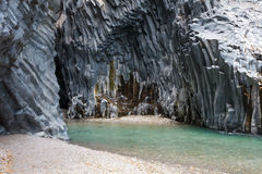 Alcantara Gorge in Italy Royalty Free Stock Photo