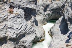 Alcantara river, Italy Royalty Free Stock Photos