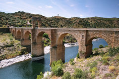 Alcantara roman bridge Royalty Free Stock Photography