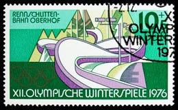 Alcantarilla, Oberhof, olimpiadas de invierno 1976, serie de Innsbruck, circa 1975 fotos de archivo libres de regalías