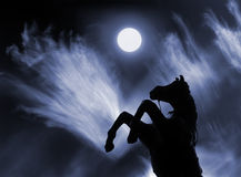 Alcanzar la luna Fotografía de archivo libre de regalías