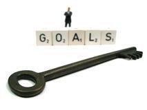 Alcanzar sus metas Fotografía de archivo libre de regalías