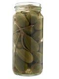 Alcaparra preservada en tarro. imagen de archivo libre de regalías