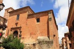 Alcaraz village Albacete Castile La Mancha  Spain. St Michael parish church, Alcaraz village,  Albacete province, Castile La Mancha,  Spain Royalty Free Stock Photos