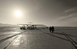 Alcatrão do aeroporto de Ibiza Imagens de Stock