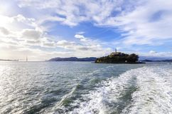 alcatraz加利福尼亚弗朗西斯科海岛圣 库存照片