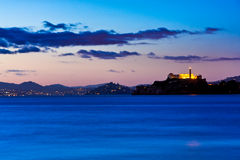 alcatraz弗朗西斯科・圣sausalito 免版税库存图片