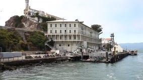 Alcatraz海全景  股票视频