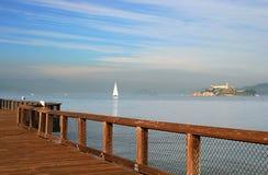 alcatraz海湾弗朗西斯科・圣查阅 库存图片