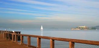 alcatraz海湾弗朗西斯科全景圣查阅 免版税库存图片