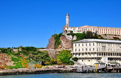 Alcatraz监狱在旧金山,加利福尼亚 库存照片
