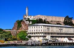 Alcatraz监狱在旧金山,加利福尼亚 免版税库存图片