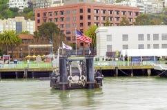 Alcatraz码头33,旧金山 免版税库存照片