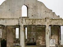 Alcatraz砖墙废墟  库存图片