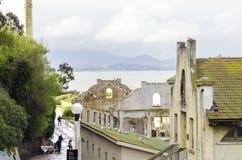 Alcatraz社会霍尔,旧金山,加利福尼亚 库存照片