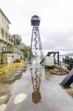 Alcatraz警卫塔,旧金山,加利福尼亚 库存照片