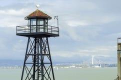 Alcatraz警卫塔,旧金山,加利福尼亚 免版税库存照片
