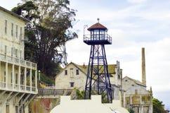 Alcatraz警卫塔,旧金山,加利福尼亚 免版税库存图片