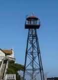 Alcatraz警卫塔  库存照片