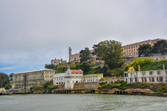 Alcatraz ö - San Francisco California Arkivfoton