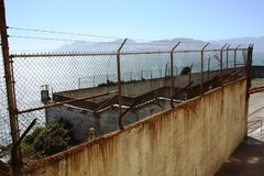 Alcatraz. Prison - the main tourist attraction in San Francisco, California Stock Image
