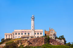 Alcatraz administrative building and tower Royalty Free Stock Photos