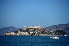 Alcatraz. Alcartaz Island in the San Francisco Bay, the former prison Stock Photos