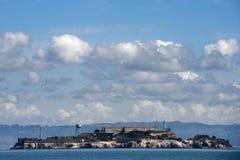 Alcatraz. Alcartaz Island in the San Francisco Bay, the former prison Stock Images