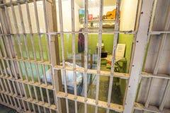 Alcatraz Allen West cell Arkivbilder