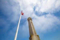 Alcatraz-amerikanische Flagge Stockfoto