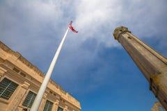 Alcatraz-amerikanische Flagge Stockfotografie