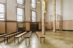 Alcatraz arkiv, San Francisco, Kalifornien Royaltyfria Bilder