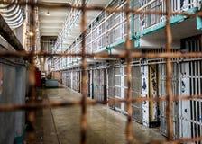Alcatraz through the bars stock images