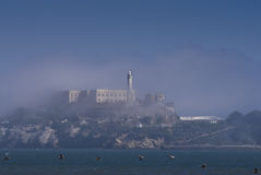 Alcatraz and Birds Royalty Free Stock Photography