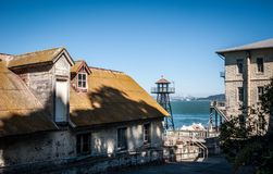 Alcatraz buildings Stock Image