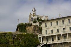 Alcatraz, casa das velhas guardas Fotografia de Stock