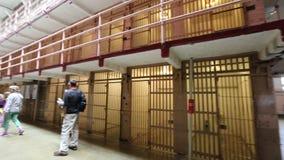 Alcatraz cell blocks stock footage