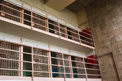 Alcatraz Cells. Upper two levels of Alcatraz cells Stock Images
