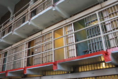 Alcatraz cells on broadway stock photos