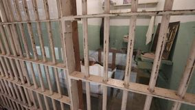 Alcatraz Clarence Anglin cell stock footage