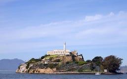Alcatraz - Close. A close shot of Alcatraz Island royalty free stock images