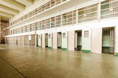 Alcatraz D Block Cellhouse, San Francisco, California Royalty Free Stock Image