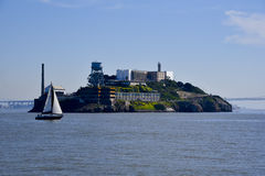 Alcatraz da baía Foto de Stock Royalty Free